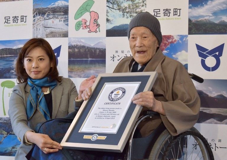 112-yr-old Japanese recognized as world's oldest man
