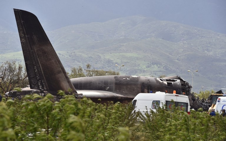 257 dead as military plane crashes in Algeria