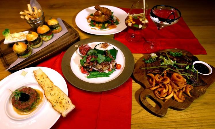 An assortment of Asian fusion cuisine VIN+.