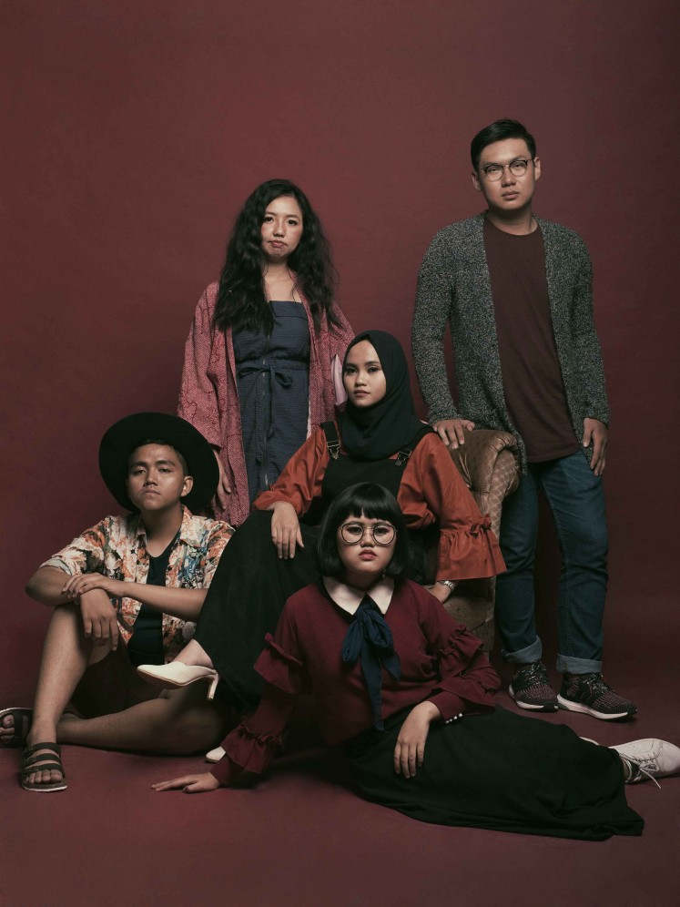 The artists of Mixed Feelings 03: FABEL: (top row from left) Ray Lidya and Kevin Keev, as well as (bottom row, from left) Riki Sumardianto, Rasheeda Rahma and Tiarama.