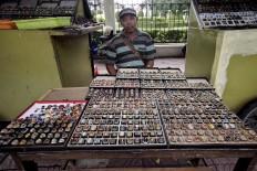 Doyok has been selling gemstones since the 1990s. JP/Boy T. Harjanto
