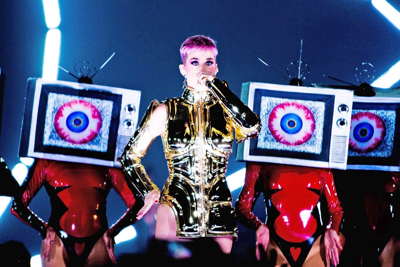 Vibrant Katy Perry meets lukewarm crowd