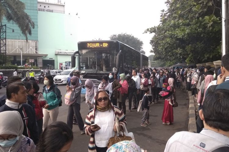 Busway queue snakes into street in odd-even trial chaos
