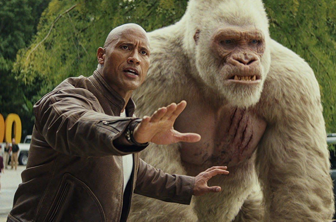 'Rampage' sneaks past 'Quiet Place' to a box-office lead