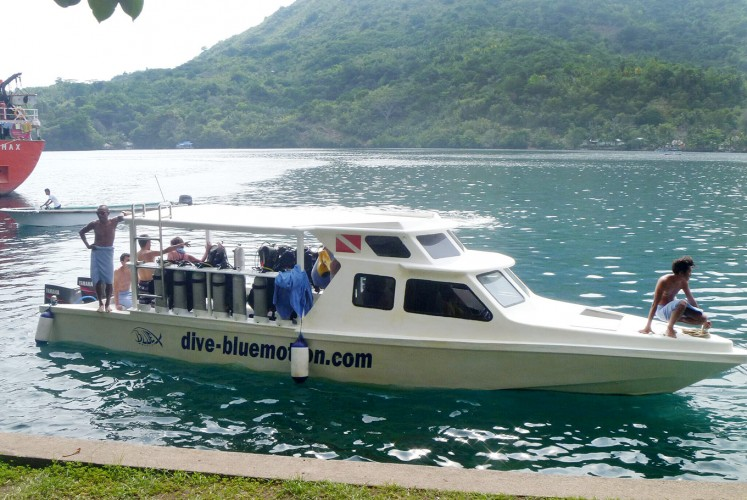 Crystal-clear water: Tourists prepare to explore diving spots around the Banda Islands.