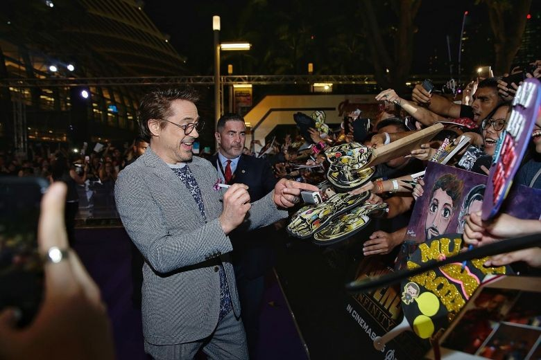 Avengers cast unveils last Infinity Stone at Marina Bay Sands