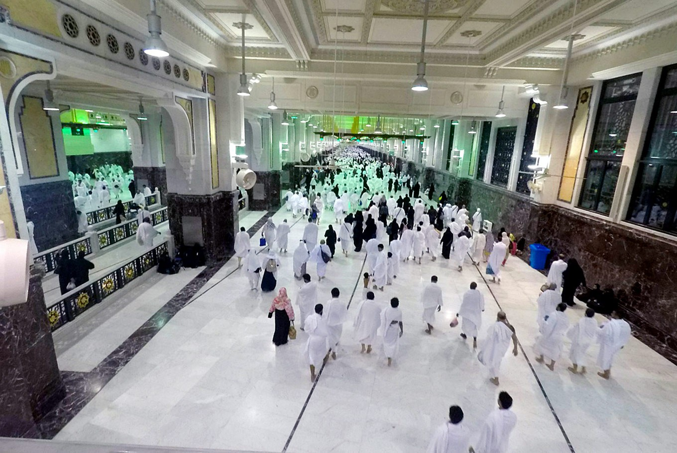 Between two hills: Umrah (minor haj) pilgrims perform the ritual of travelling on foot between Safa and Marwah hills. A plan is under way to turn this facility into three layers.