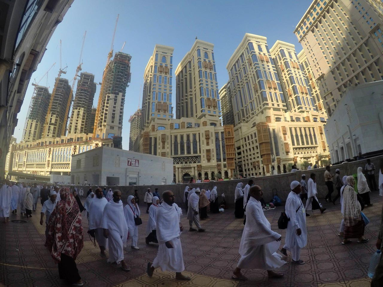 Rising up: New high-rise buildings loom in Mecca as the city is increasing its capacity to accommodate more pilgrims. The Saudi monarchy plans to welcome some 30 million pilgrims a year, both for the haj and the year-round umrah, by 2030. JP/Endy M Bayuni