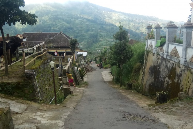 Idyllic: Marrying at young age is common in the village of Lencoh in Selo district, Boyolali, Central Java.