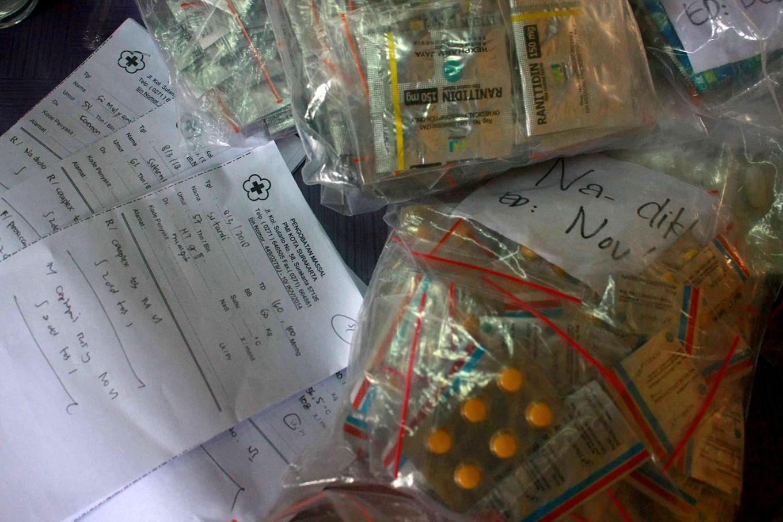 Medicines are prepared for distribution. JP/Maksum Nur Fauzan