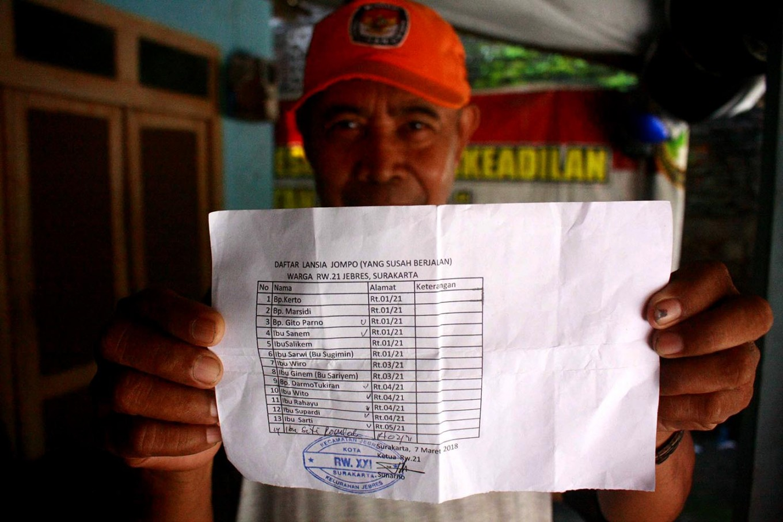 The list of patients seen by the volunteering doctors. JP/Maksum Nur Fauzan