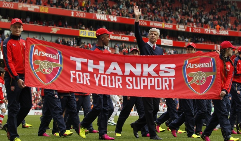 Wenger bids farewell to stadium he helped build