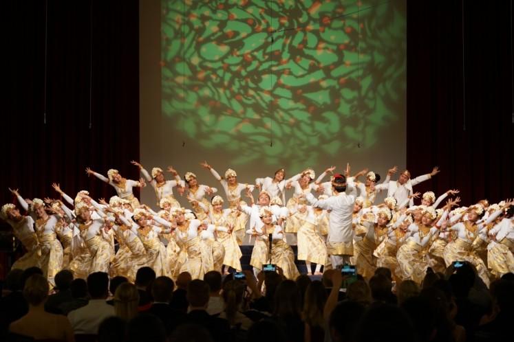 The Resonanz Children's Choir perform 'Janger' at the European Grand Prix for Choral Singing in Maribor, Slovenia.