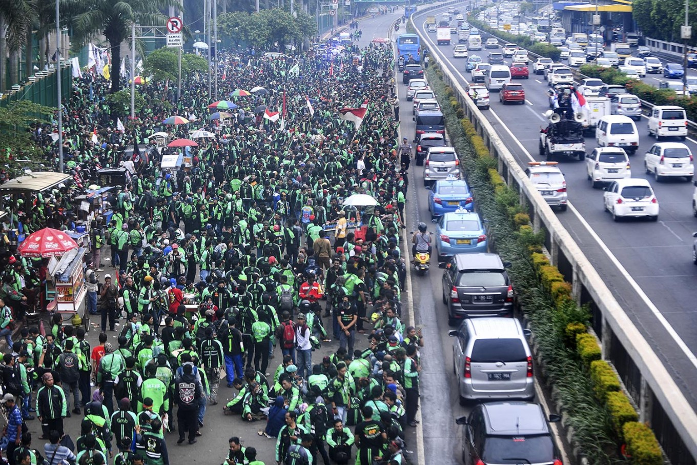 Online 'ojek' drivers to protest during Asian Games opening