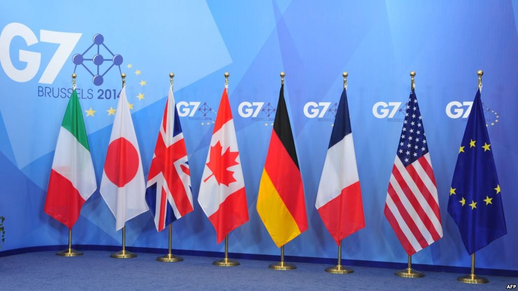 G-7 foreign chiefs meet on Korea, Russia without Pompeo