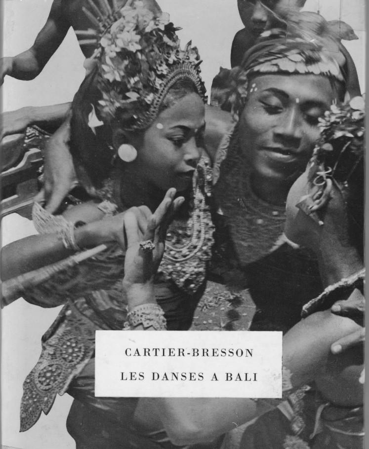 The cover of the book of Henri Cartier-Bresson, containing photos taken in Bali. The vintage book has been re-printed.