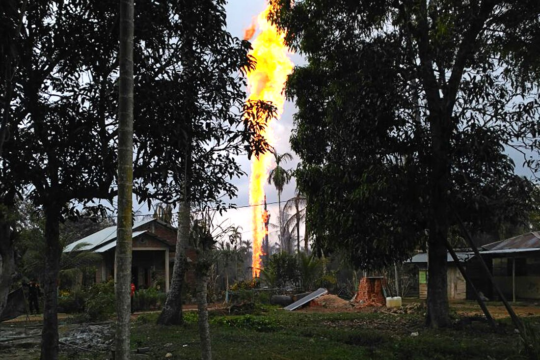Government to take legal action against drillers of illegal oil well after fire