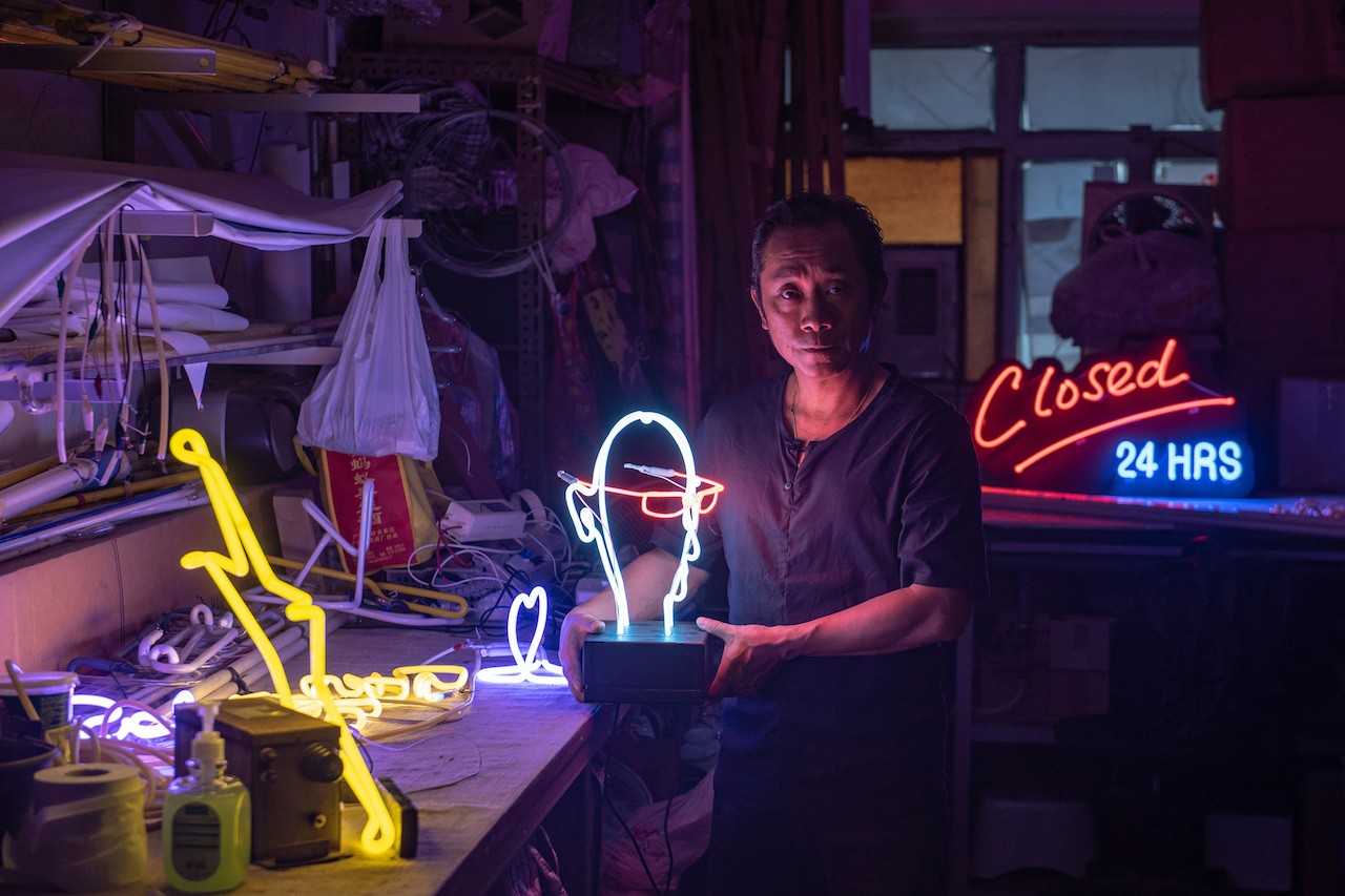 Neon nostalgia in Hong Kong as lights go out