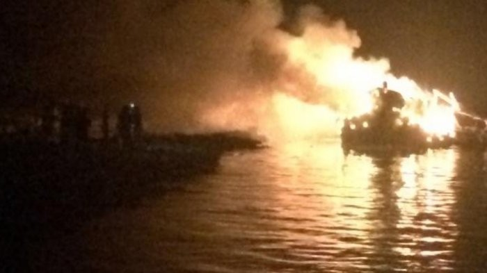 Cargo ship catches fire in Thousand Islands, all crewmen survive