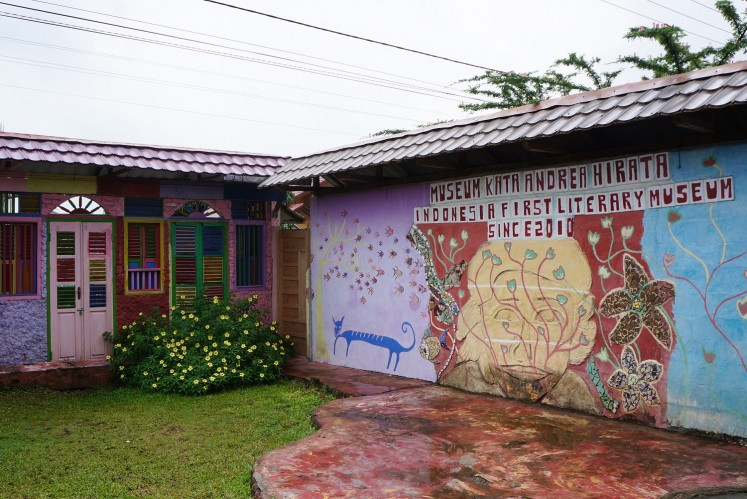 The colorful Museum Kata Andrea Hirata is hard to miss in Gantung, Belitung Island.