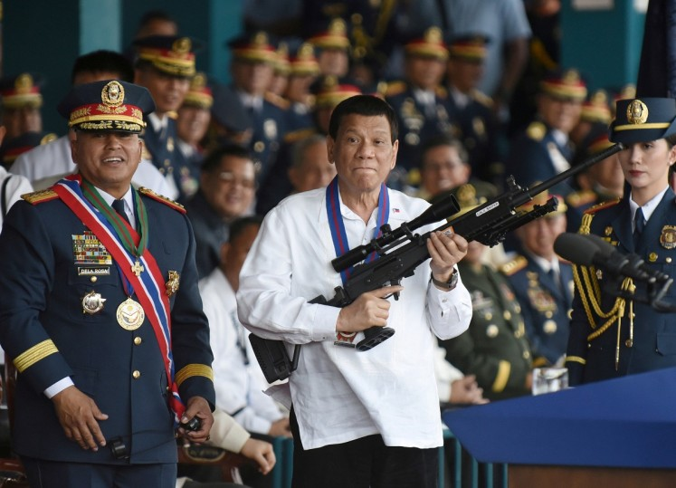 Duterte warned against complacency over Chinese missiles on PH reefs