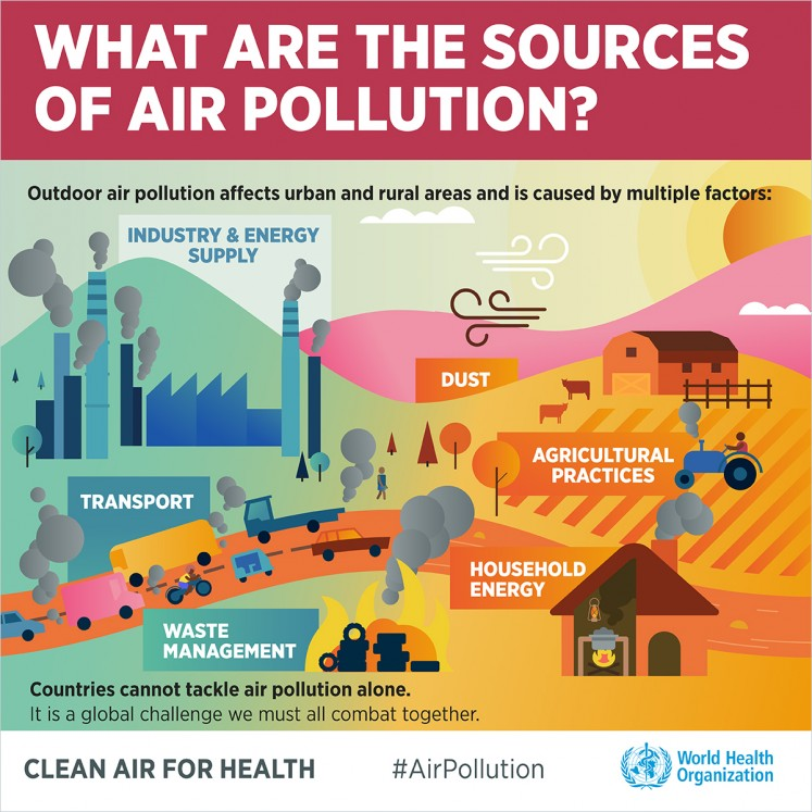 What are the sources of air pollution?