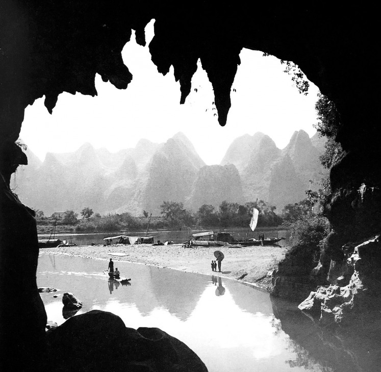 In real world: A view of Kweilin, now known as Guilin, a city located in Guangxi, China.