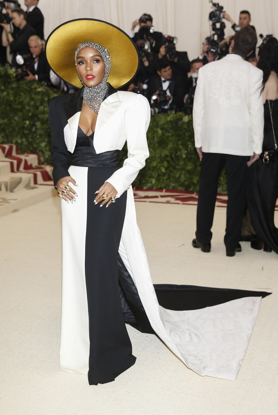 Singer-Songwriter Janelle Monae arrives at the Metropolitan Museum of Art Costume Institute Gala (Met Gala) to celebrate the opening of 'Heavenly Bodies: Fashion and the Catholic Imagination' in the Manhattan borough of New York, U.S., May 7, 2018.