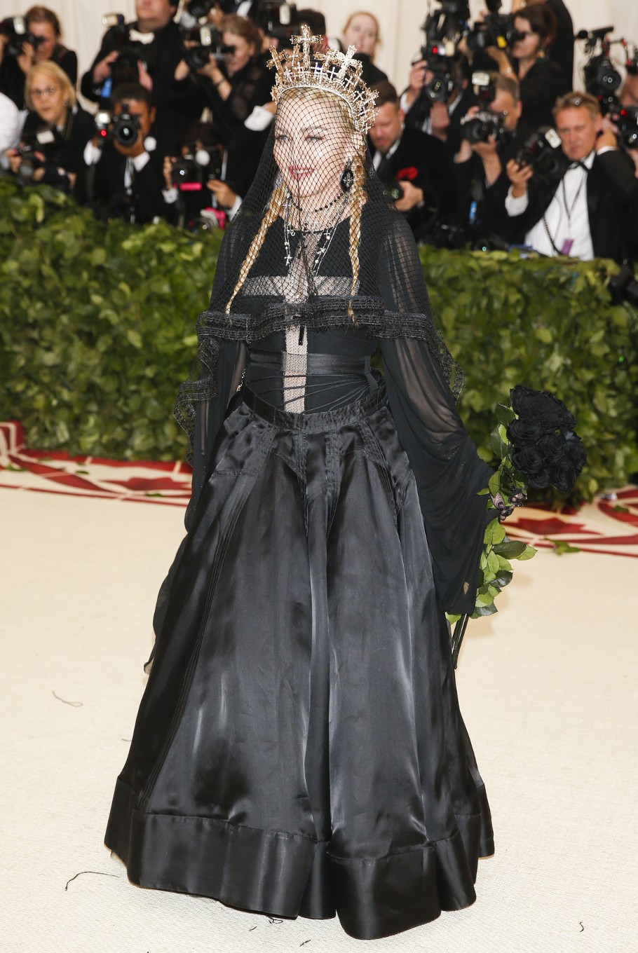 Singer-Songwriter Madonna arrives at the Metropolitan Museum of Art Costume Institute Gala (Met Gala) to celebrate the opening of 'Heavenly Bodies: Fashion and the Catholic Imagination' in the Manhattan borough of New York, U.S., May 7, 2018.