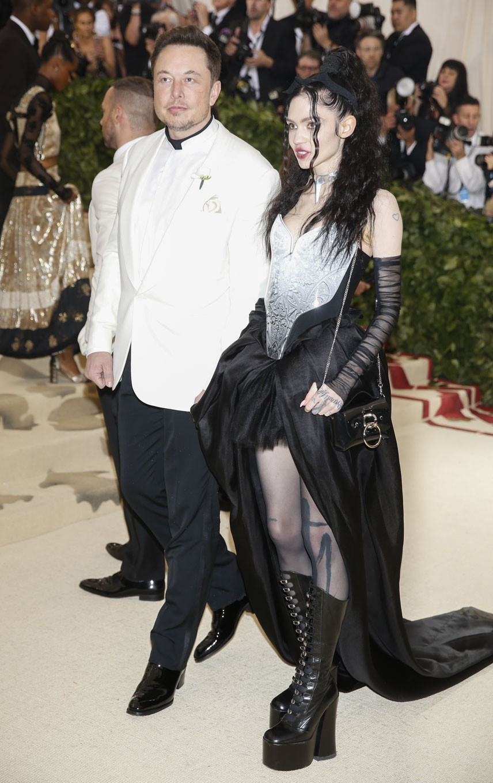 Elon Musk graces Met Gala red carpet with new girlfriend Grimes