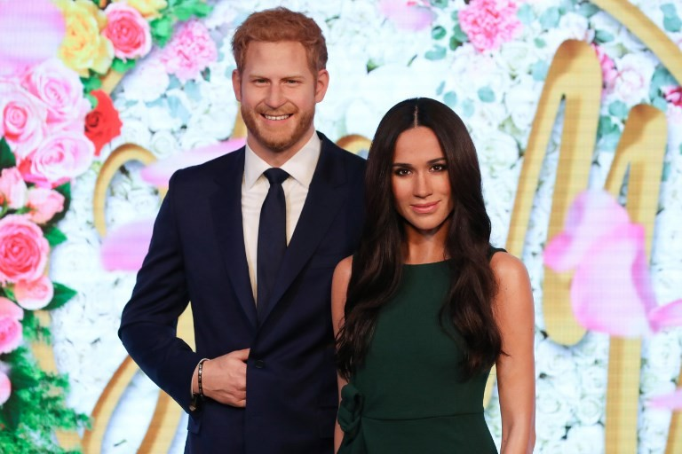 Meghan Markle unveiled at London waxwork museum