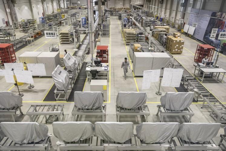 Recaro seats at the Qiangdao factory.
