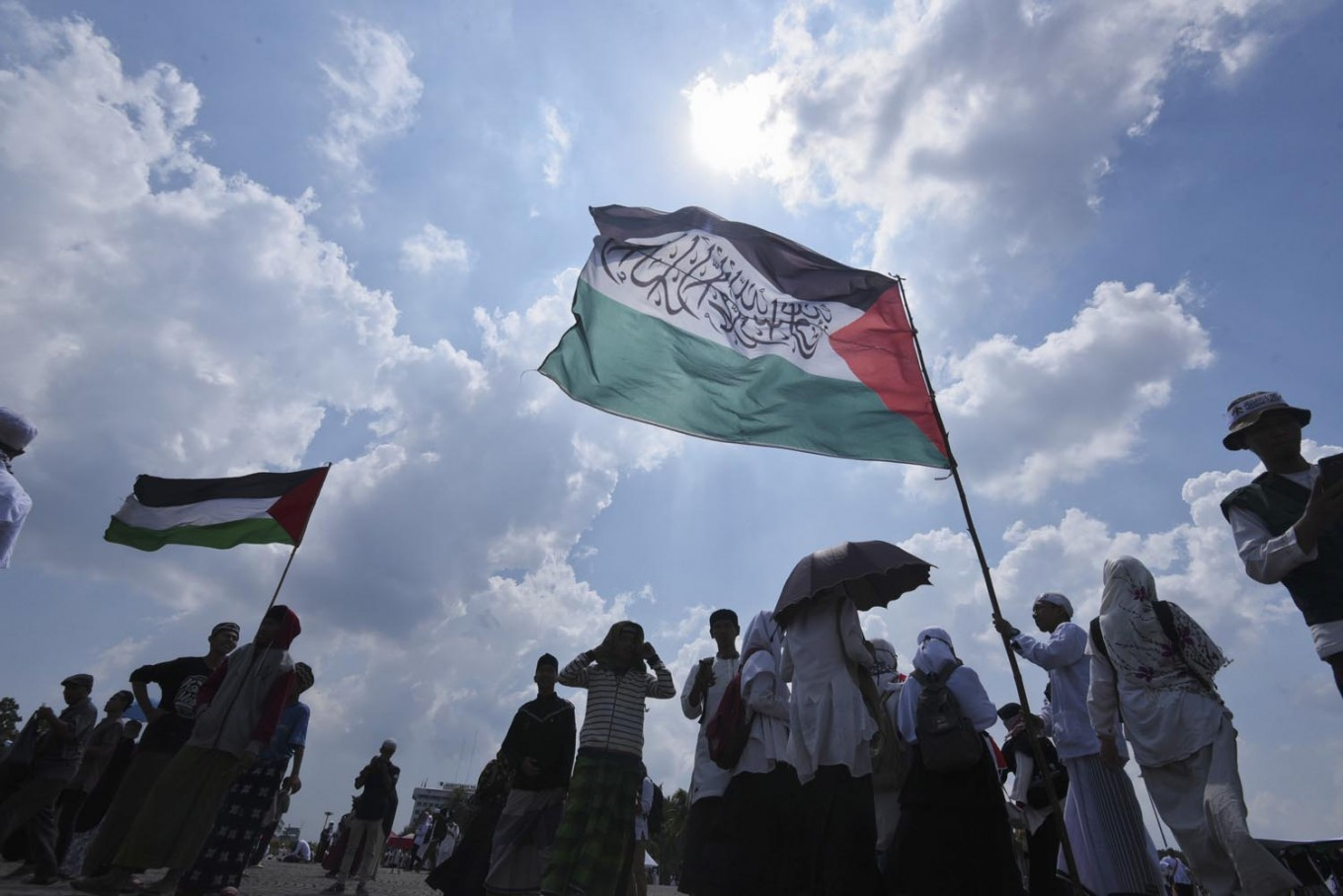Anies attends rally for Palestinian independence