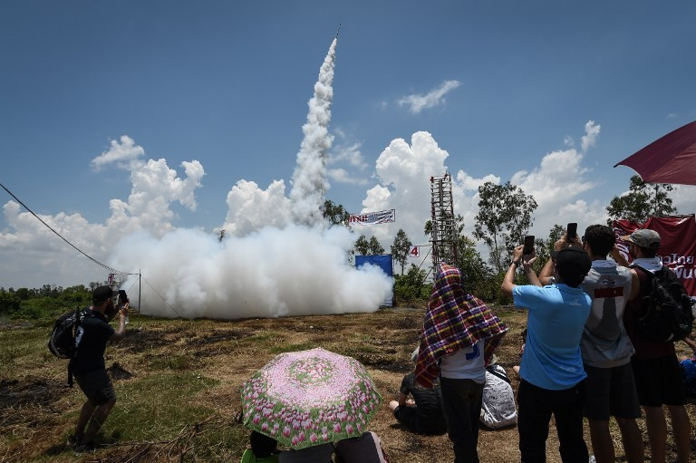 Fire and rain: Thais launch home-made rockets to welcome monsoons