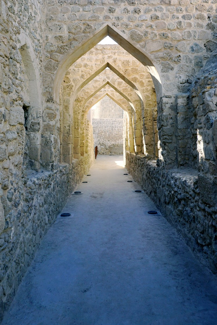 Historical ruins: Ancient architecture of the Qal'at al-Bahrain.