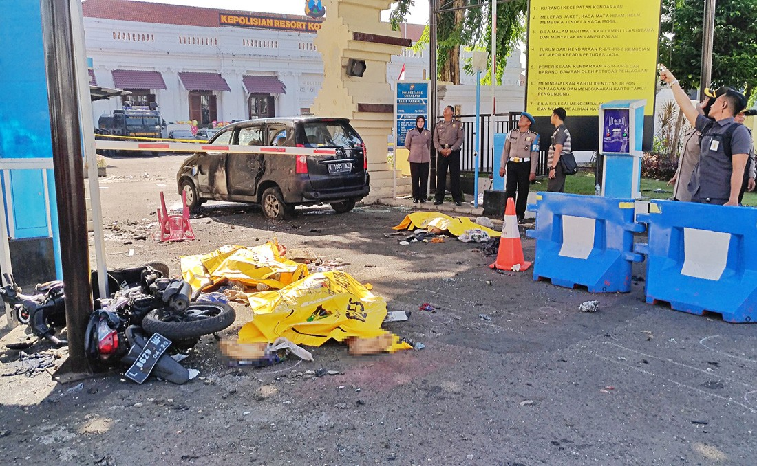 54 bombs found in home of Surabaya Police HQ suicide bomber