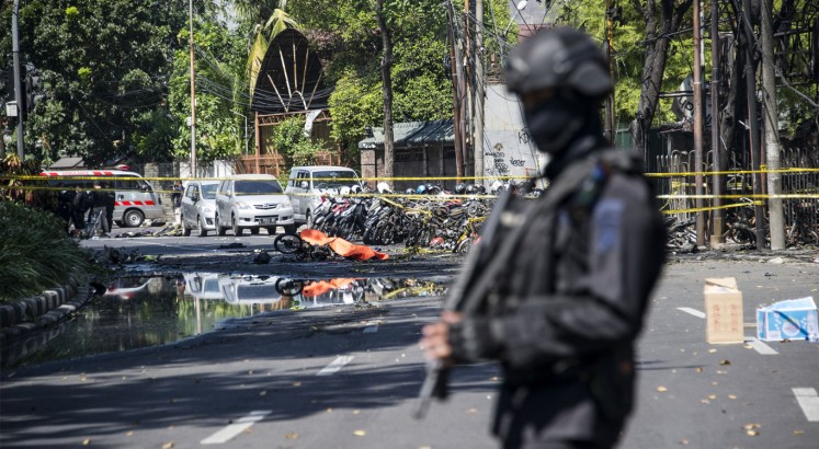 25 killed in East Java attacks, including 13 suicide bombers