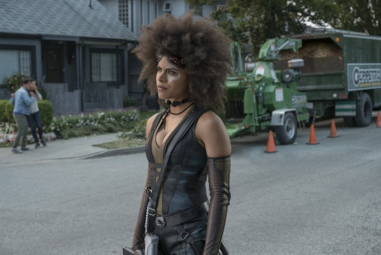 Zazie Beetz as Domino in 'Deadpool 2'.