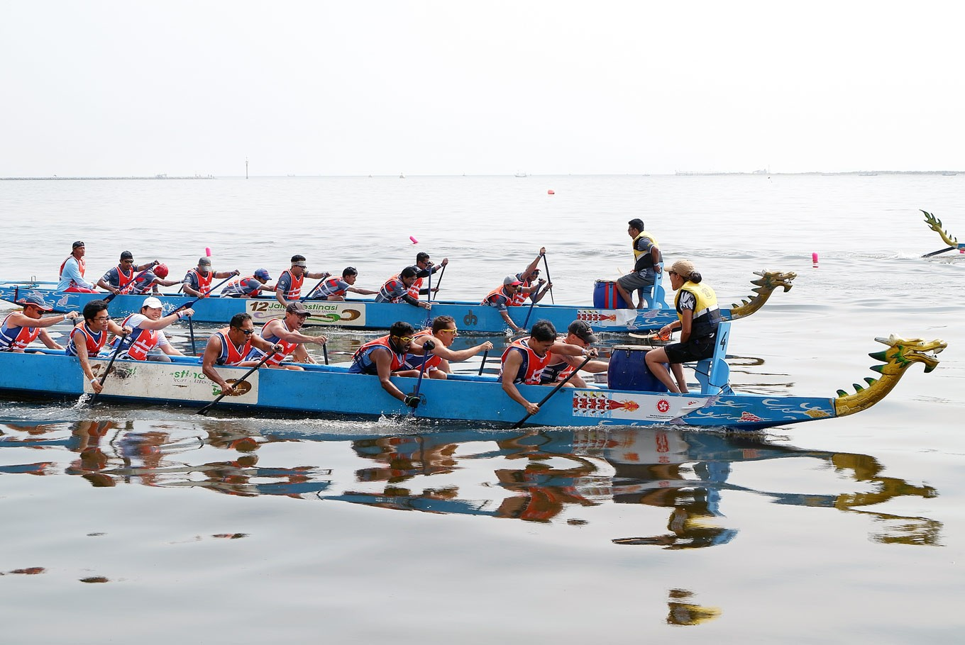 Reviving tradition in the second Jakarta Dragon Boat Festival