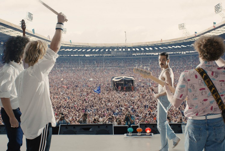 Queen take the stage in 'Bohemian Rhapsody'.