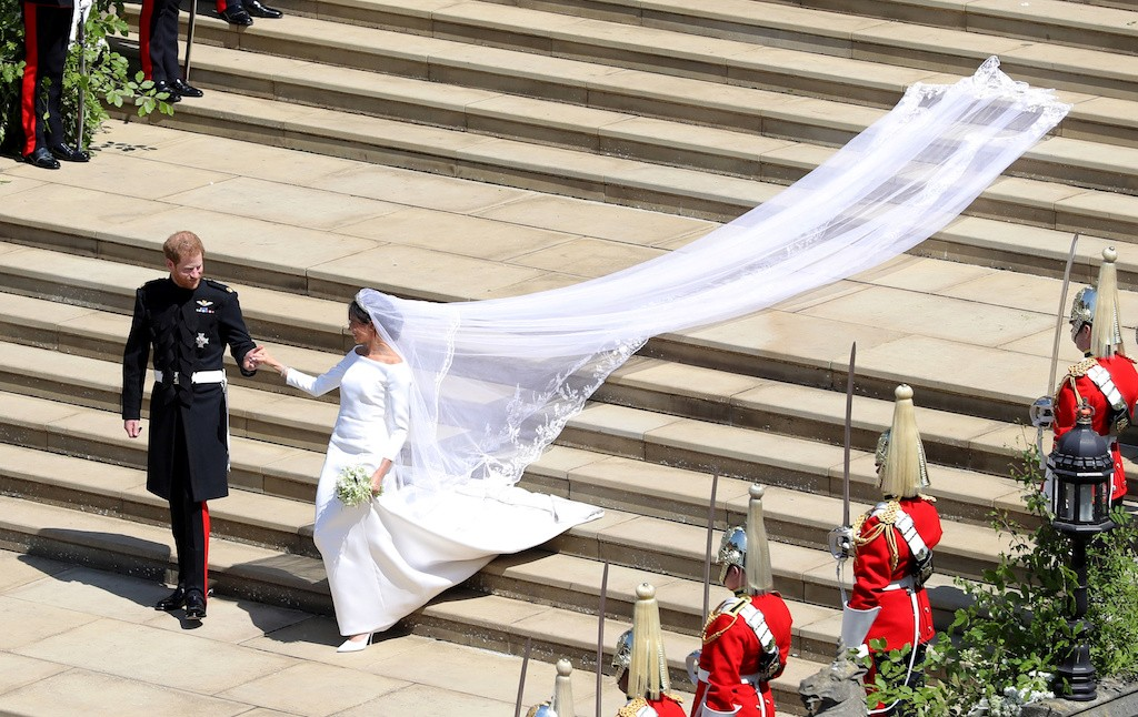Meghan loved her veil embroidered with tribute to the Commonwealth: Designer