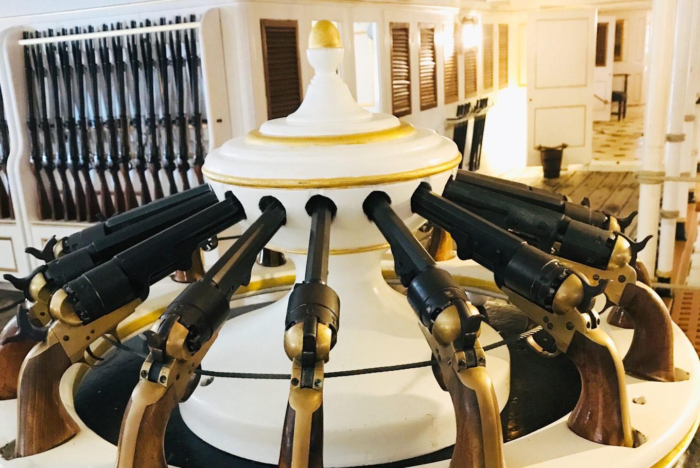 Pistols on the HMS Warrior