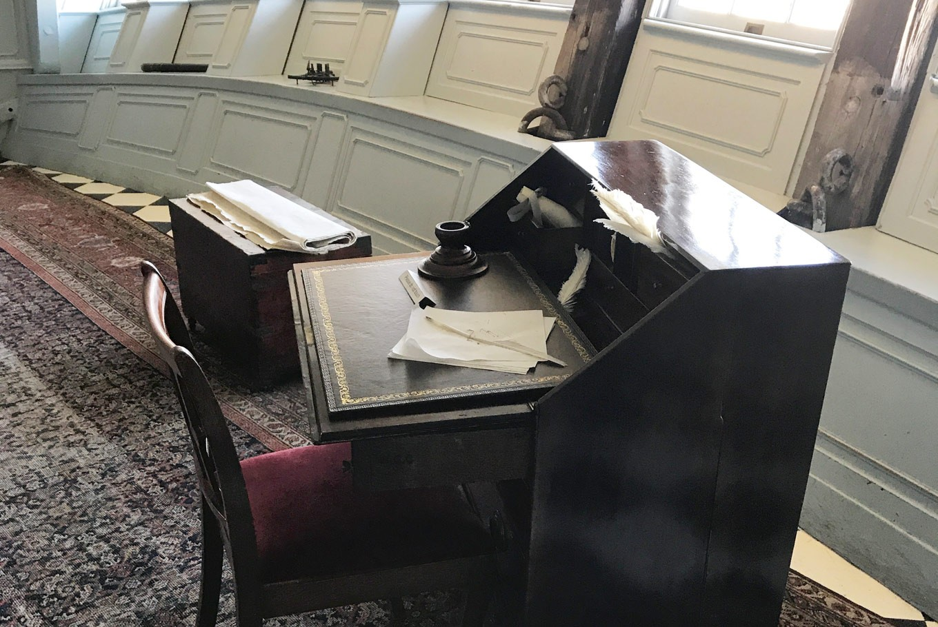 A set of writing table aboard the HMS Victory