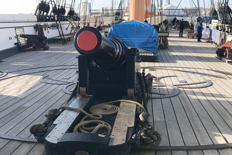 HMS Warrior upper deck cannon