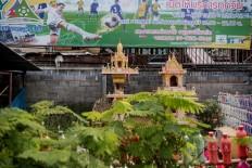 A spirit house in Chiang Mai, Thailand. JP/Anggara Mahendra