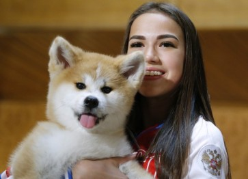 Japan keeps word, gifts Akita dog to Russian skater Zagitova