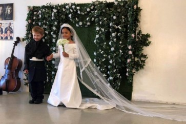 American kids recreate royal wedding for photoshoot