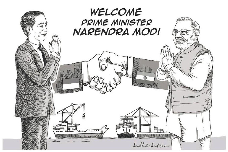 Indian PM Modi's 'oleh oleh'