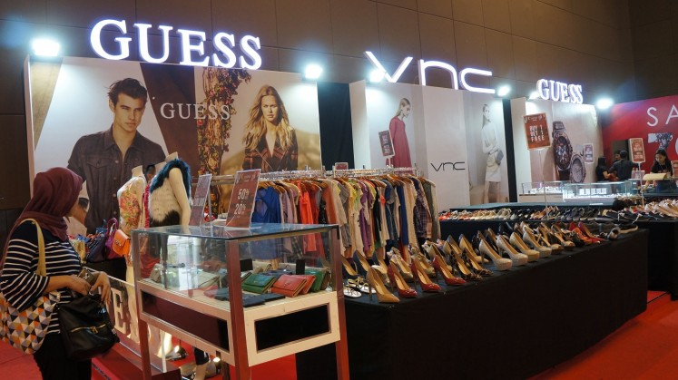 Guess and VNC counter at the 2018 Jakarta Fair.