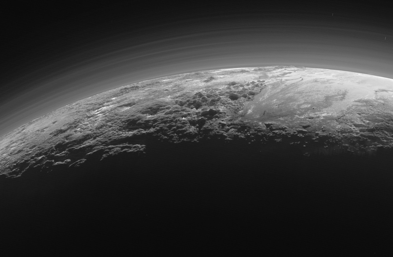 Dunes are found on the surface of Pluto. But they are not sand